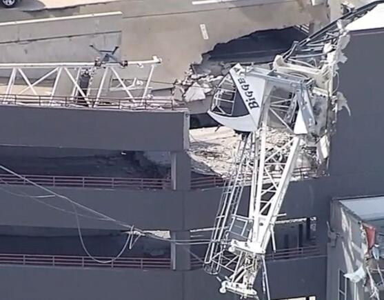 美���_拉斯一起重�C倒塌砸中公寓�� 已致1死6��