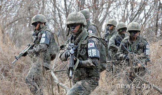 韩国第一师团侦察大队正在执行任务(韩媒news2day)