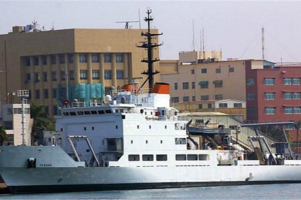 台海军海测船因动力失效一度漂流在台湾海峡。(图:《中时电子报》)