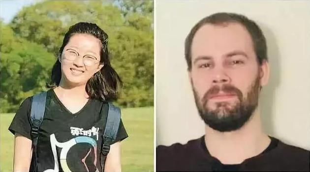 ↑受害者章莹颖(左)与嫌犯克里斯滕森