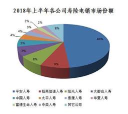 (2018年上半年各公司寿险电销市场份额)