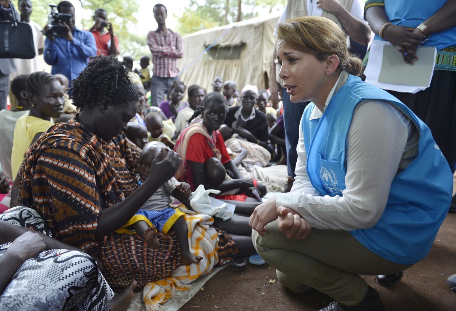 哈雅公主在埃塞俄比亞 圖據哈雅公主官網