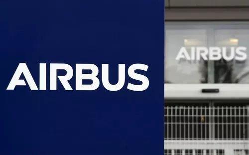 图片为2018年3月7日在法国布拉尼亚克拍摄的飞机制造商空中客车的标志。新华社/法新
