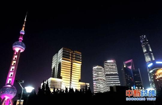 资料图:上海夜景。中新经纬 摄