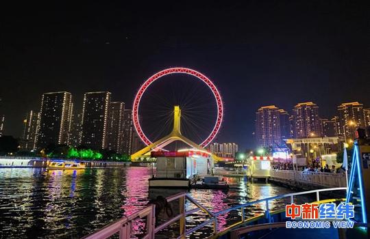 资料图:天津夜景。中新经纬 张澍楠摄