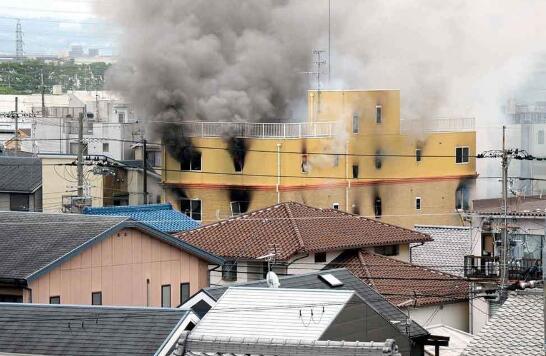 火灾现场(图源:《京都新闻》)
