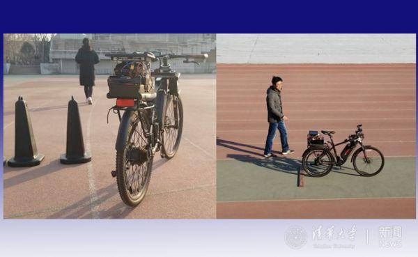 自动行驶自行车演示平台(清华新闻网)