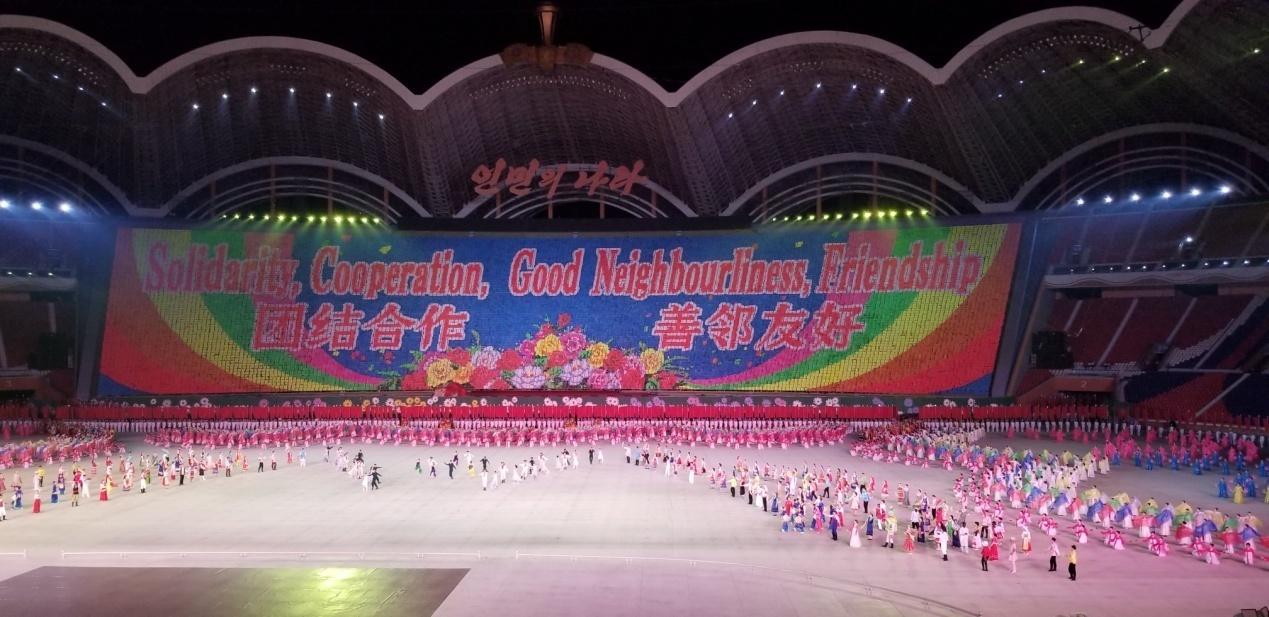 """大型團體操表演已成為朝鮮的一張國家""""名片""""。"""