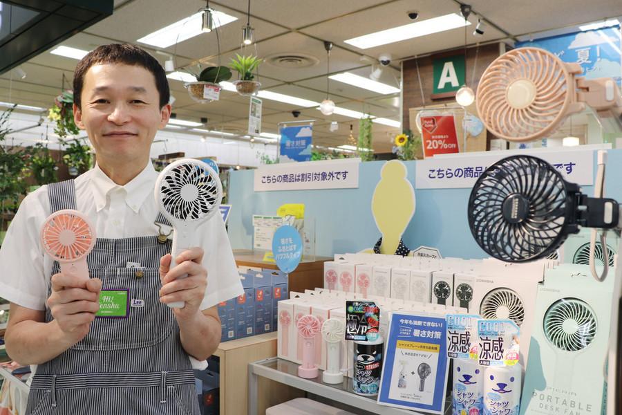 防暑降温产品在东京炎卖(日本时事通信社)