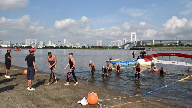 东京奥运会的户外游泳场地(KBS新闻)