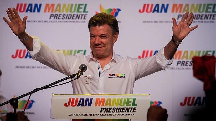 (图片来自当地媒体《时代报》 图为哥伦比亚前总统桑托斯)