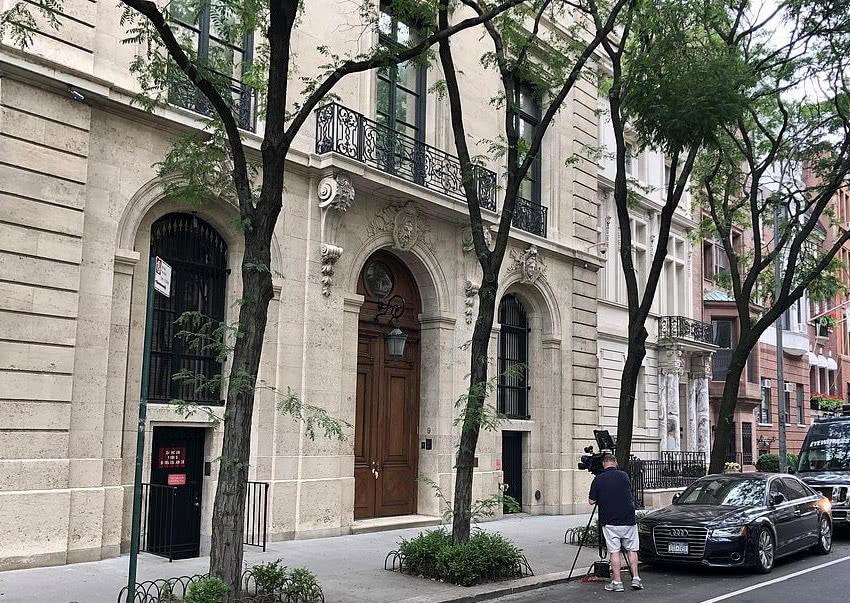 爱泼斯坦在曼哈顿的豪宅。(图自社交媒体)