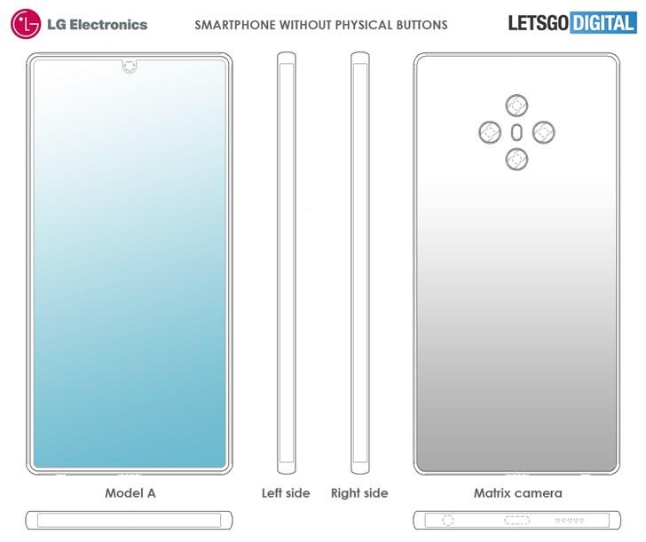 LG最新手机设计专利曝光: 机身无按键式设计