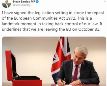 英国脱欧事务大臣?#21644;?#27431;已无回头