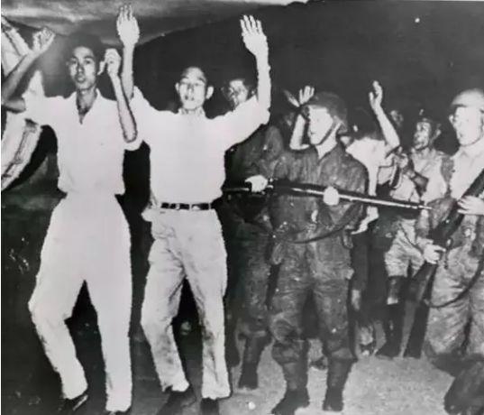 1958年英军镇压示威者