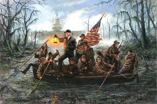 乔恩·麦克诺顿此前的画作——《穿越沼泽》