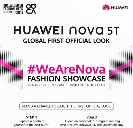 华为nova 5T将在马来西亚发布 后置四摄+3750mAh电池