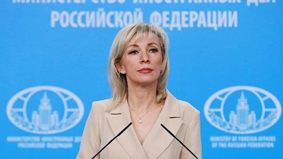俄罗斯交际部说话人扎哈罗娃 图自俄新社