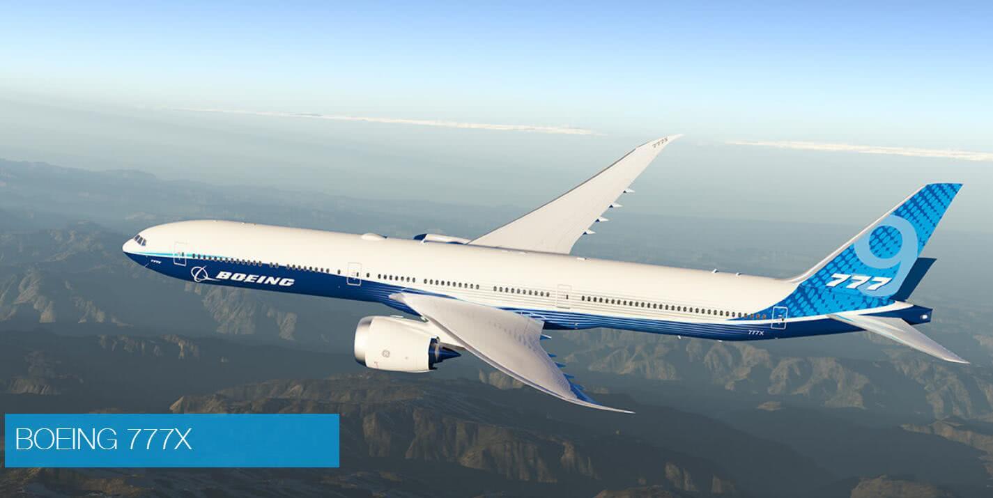 波音客机777X测试时舱门爆炸掉落