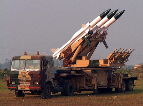 """印度""""天空""""地空导弹系统(美国雅虎新闻网站)"""