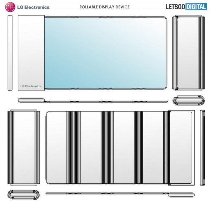 """LG新设计专利曝光 可以将屏幕""""卷""""起来"""