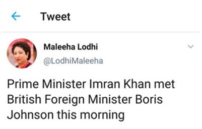 """【蜗牛棋牌】巴基斯坦驻联合国代表误称英首相为""""外交大臣"""""""