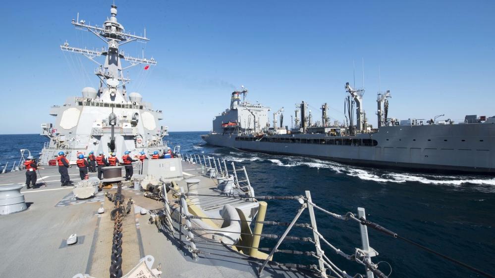 油轮遇袭事件后,美国组建了军事联盟。(图源:美联社)