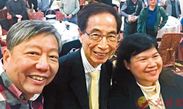 左起:李卓人、李柱铭、麦燕庭(来源:文汇报)