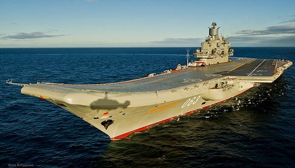 俄唯一现役航母在维修时起火已造成1