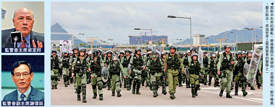 调查港警的洋人专家暂退。(图源:大公网)