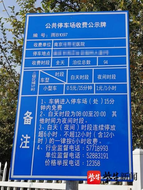 南京一醫院被罰:停車費每次多收5毛違規收1.2萬次
