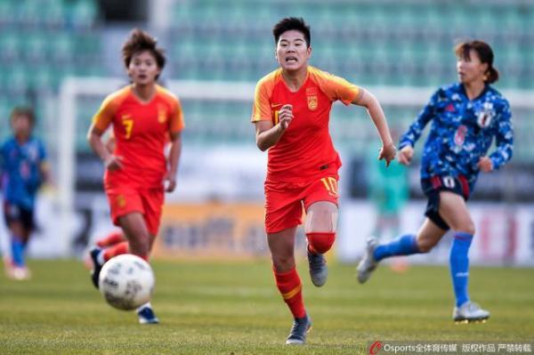 中国女足在日本队面前落于下风。