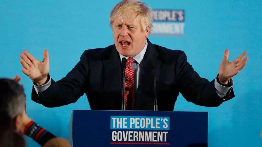 保守党获胜后,约翰逊发外演讲