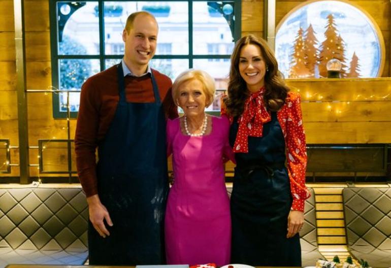 玛丽·贝里(中)和威廉夫妇(BBC)