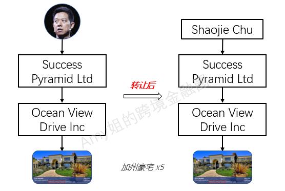 △图:根据破产文件,购入房产的Ocean View Drive Inc的顶层控股公司,是贾跃亭在2007年成立的Success Pyramid Ltd。