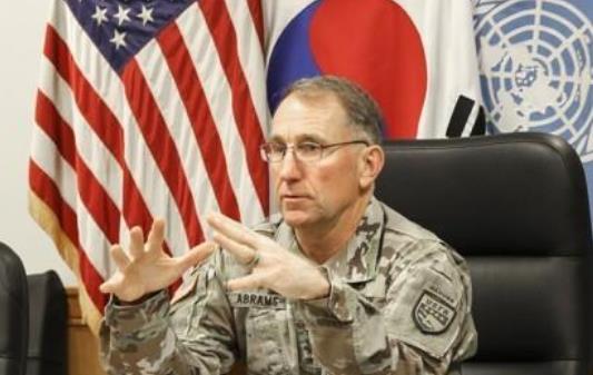 驻韩美军司令罗伯特·艾伯拉姆斯(韩联社)