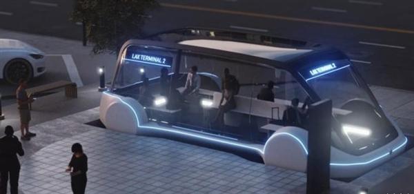 外媒绘制的特斯拉城纯电动巴士渲染图