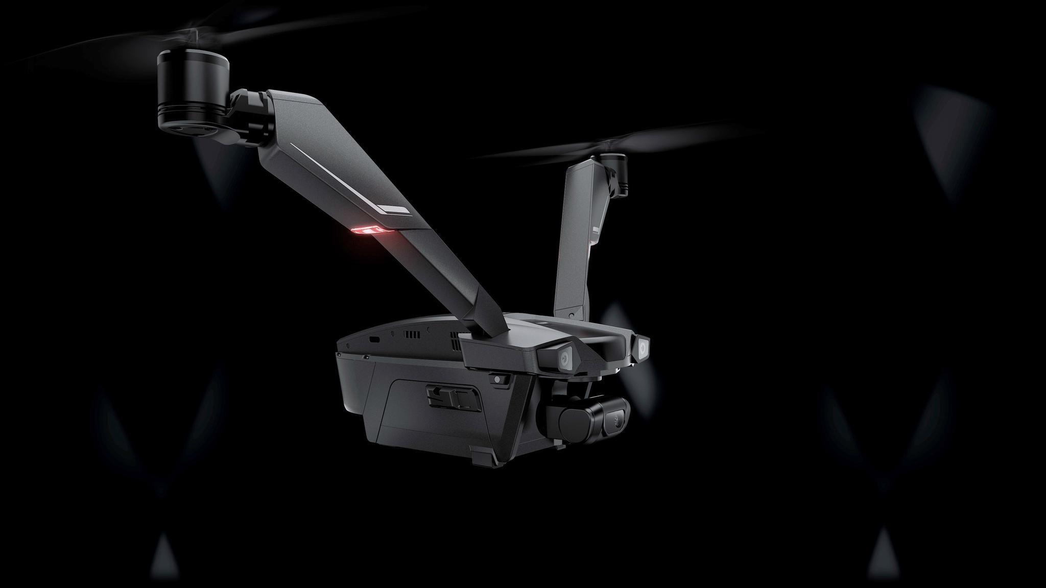 业界首款V型双旋翼无人机Falcon,50分钟长续航