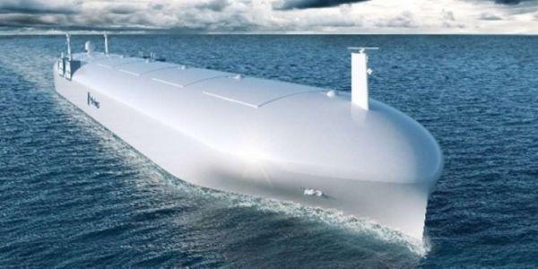 资料图片:未来大型无人水面舰艇设想图。(美海军官网)