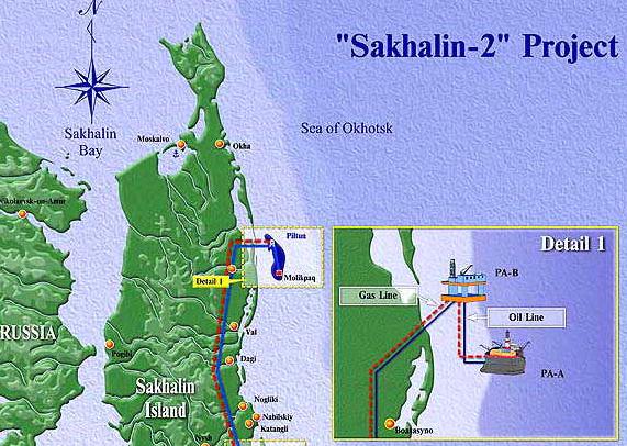 美国的制裁也有成功案例,今年4月壳牌就因美国压力而宣布退出与俄气合作的萨哈林2号液化天然气项目(即库页岛2号)。图源:omr russia