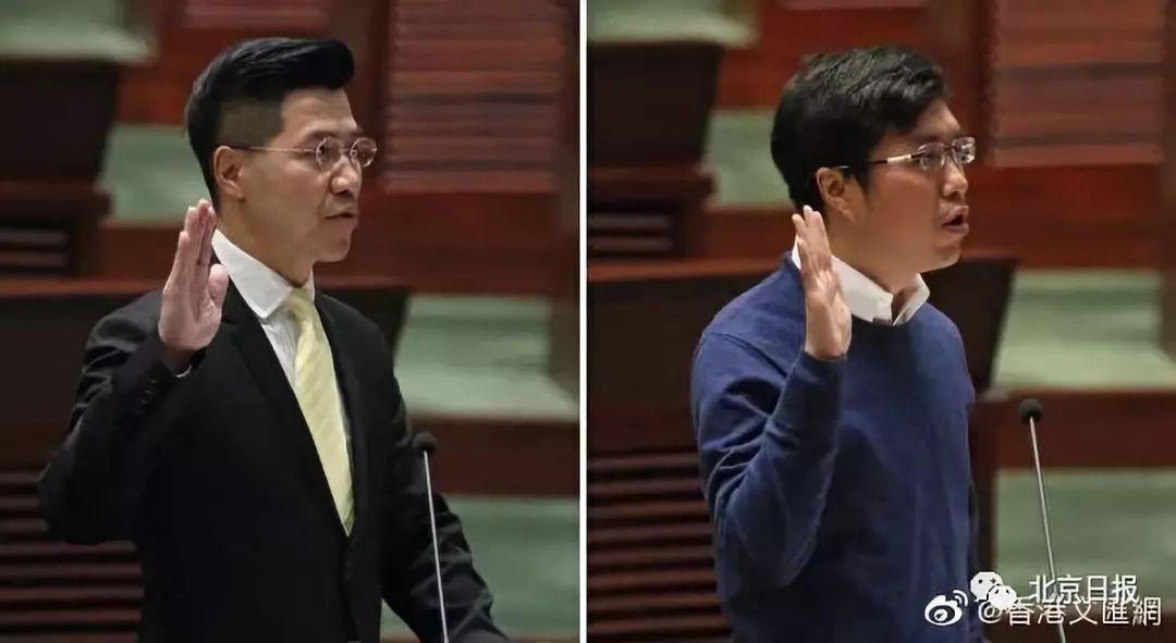 """范国威(左)与区诺轩(右)被法庭裁定为""""非妥当当选"""",失去立法会议席"""