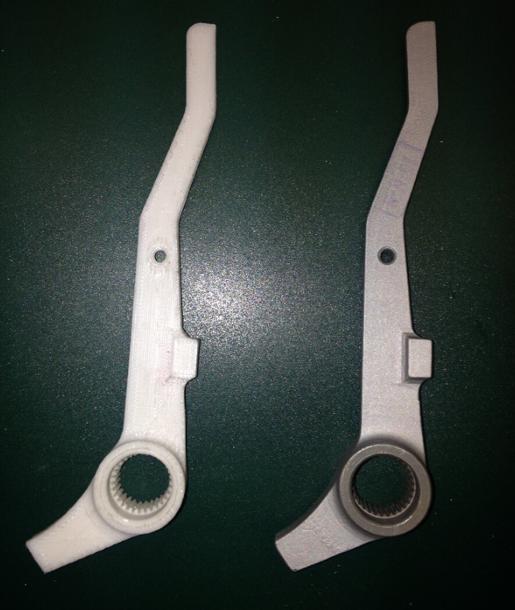 3D打印零部件对比图(图源:俄媒)