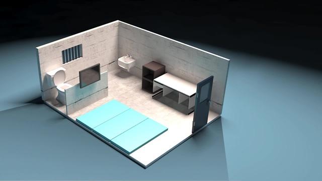 朴槿惠囚室的模拟图(《国民日报》)