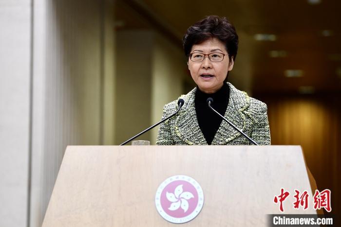 原料图:香港特区走政长官林郑月娥。中新社记者 李志华 摄