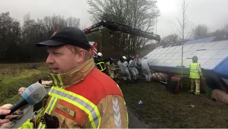 事故现场(比利时法语区电视台)