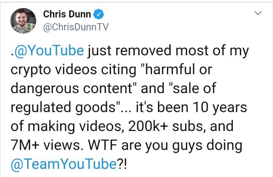 克里斯·邓恩的推文