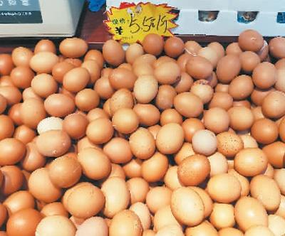 北京盛福小关市场出售的鸡蛋。