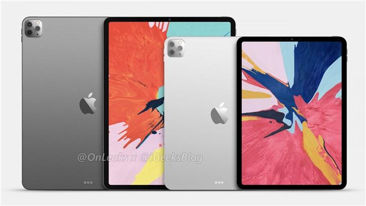 苹果iPad Pro 2020渲染图曝光 11寸/12.9寸版拟搭载A13X芯片