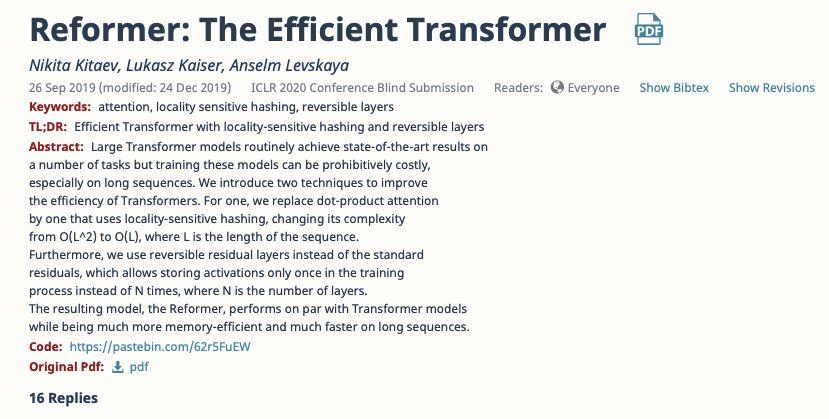 transformer:這篇ICLR高分論文讓一塊GPU處理64K長度序列