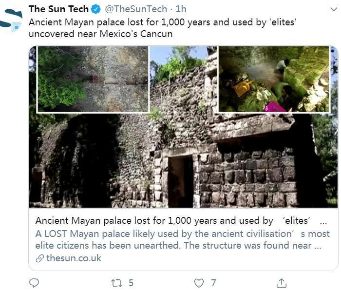 墨西哥發現馬雅古文明大型宮殿遺跡 失落逾千年